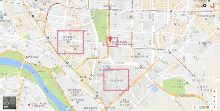 語学学校の地図