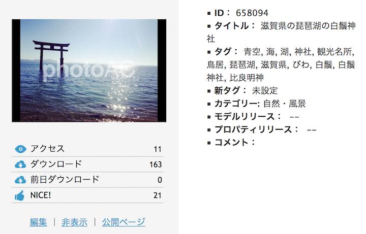 滋賀県の琵琶湖の写真