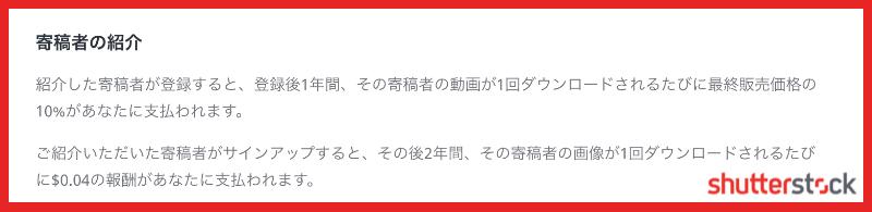 「シャッターストック」紹介報酬